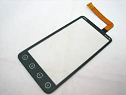 AE-SELECT Touch Screen Digitizer Front Glass Faceplate Lens Part Panel ~ Mobile Phone Repair Parts Replacement for HTC EVO 3D Sprint