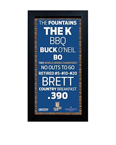 Steiner Sports Memorabilia Framed Kansas City Royals Desktop/Wall Hangable Subway Sign Wall Art