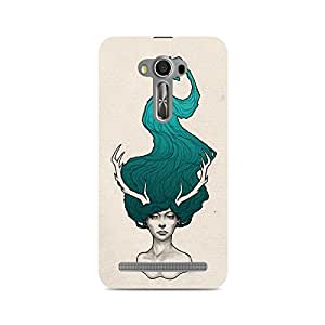 Mobicture Girl Abstract Premium Designer Mobile Back Case Cover For Asus Zenfone Selfie