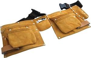 am tech ceinture porte outils en cuir 11 poches bricolage. Black Bedroom Furniture Sets. Home Design Ideas