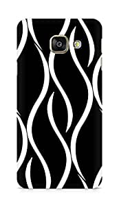 Amez designer printed 3d premium high quality back case cover for Samsung Galaxy A3 (2016 EDITION) (Curvy Pattern)