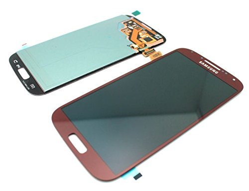 New Oem Black/White/Pebble Blue/Red/Pink/Arctic Blue Complete Front Housing Lcds Display Touch Screen Glass Digitizer Assembly Replacement For Samsung Galaxy S4 Iv I9500/I9505/I337/M919/I545/L720/R970 , Dhl Shipping (Red)