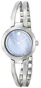 Movado Women's 0606812 Amorosa Duo Analog Display Swiss Quartz Silver Watch