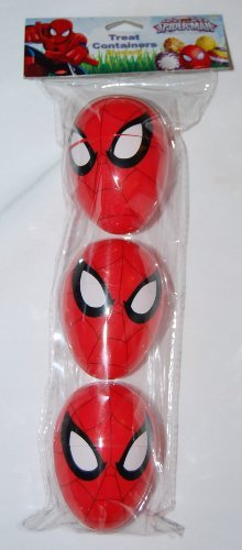 3 Spiderman Treat Containers for Easter Basket Easter Eggs Party