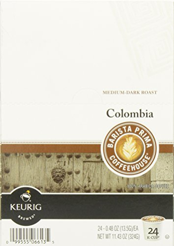 Barista Prima Coffeehouse Coffee, Keurig K-Cups, Colombia, 24- Count (Keurig Barista House Blend compare prices)