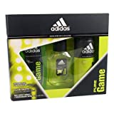Adidas Pure Game Eau De Toilette Scent 50ml Body Spray/body Gel Gift Set For Him