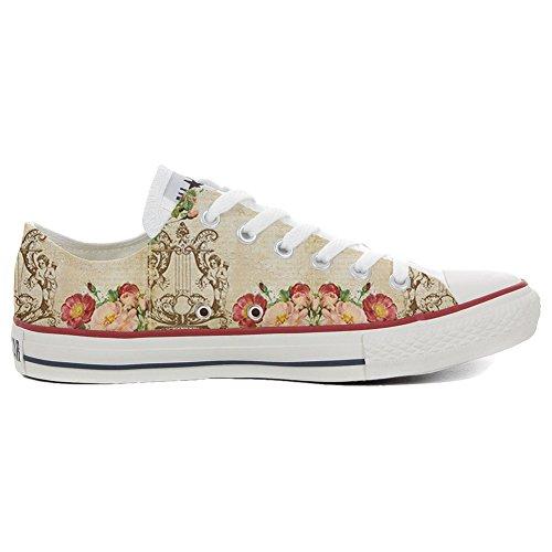 Converse All Star Slim chaussures coutume mixte adulte (produit artisanal) Floral Vintage