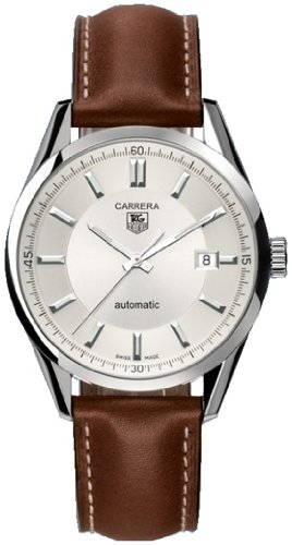 TAG Heuer Men's WV211A-FC6203 Leather Carrera Watch