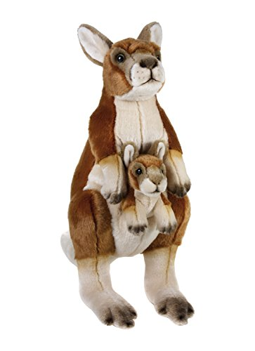 Lelly 770762 - National Geographic Canguro con Baby, Altezza 44 cm