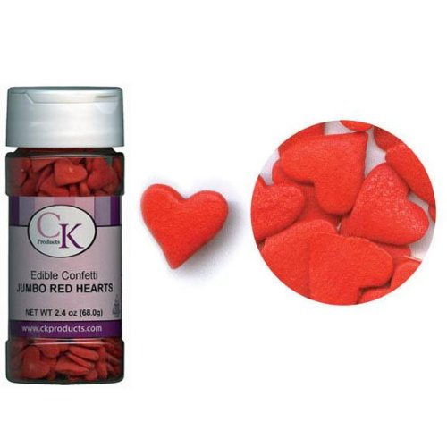 Confetti Jumbo Red Hearts 2.4 oz. CONJRH (Ice Cream Candy Hearts compare prices)