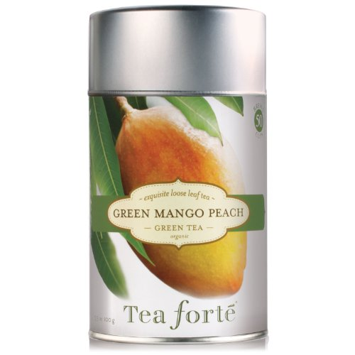 Tea Forte Loose Tea Canister-Green Mango Peach, 3.5 oz, 50 servings