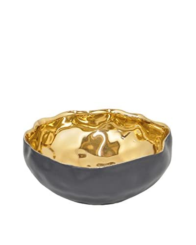 Three Hands Golden Ceramic Dish