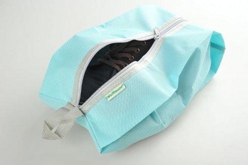 Schuhtasche / -beutel für Reisen aus einfachem Stoff, Farbe: himmelblau, Mod. JE-00013-SKYBLUE