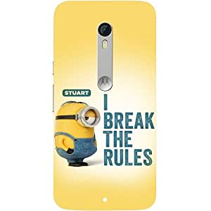 Casotec Minoin Rules Breaking Design Hard Back Case Cover For Motorola Moto X Play