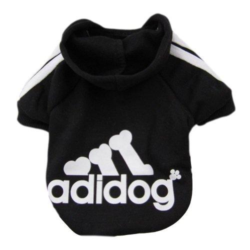 Zehui Pet Dog Cat Sweater Puppy T Shirt Warm Hoodies Coat Clothes Apparel Black L