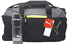 Puma Sport Duffle Gym/Travel Bag with Free Water Bottle 650 ml