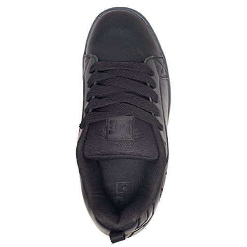 DC Shoes Mens Court Graffik SE Black Leather Trainers 9.5 US