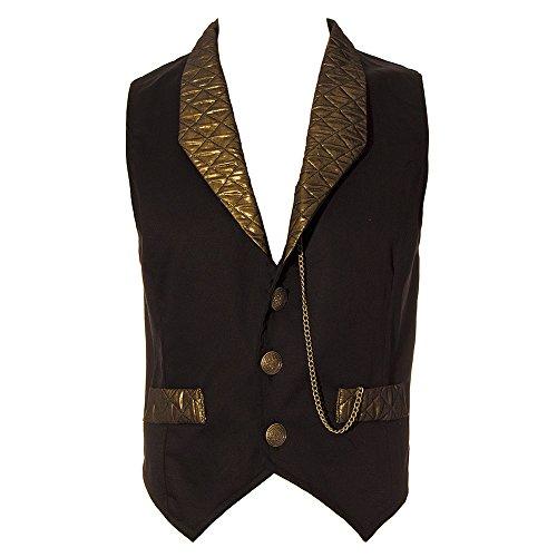 Golden-Steampunk-Unisex-adults-Duke-Quilted-Waistcoat