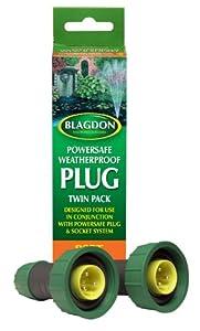 BLAGDON POWERSAFE WEATHERPROOF PLUG TWIN PACK