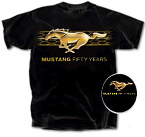 Ford Grill Hex Running Pony Men'S T-Shirt-Xxl
