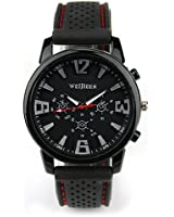 Fashion Military Pilot Aviator Army Style Silicone Men Outdoor Sport Wrist Watch Black