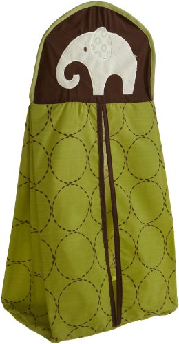 Carter's Green Elephant Diaper Stacker, Green/Choc, 26 X 12.5