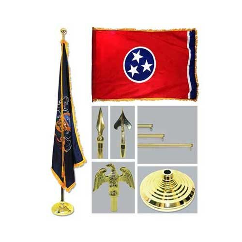 Tennessee 4Ft X 6Ft Flag Telescoping Flagpole Base And Tassel