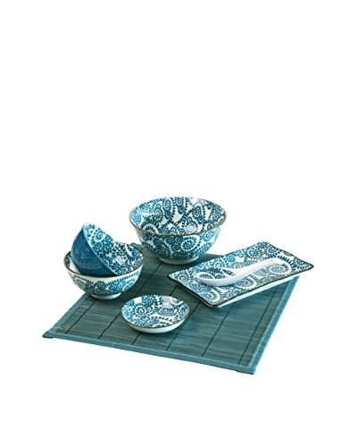 Molecuisine Sushi Geschirr 7 tlg. Set Oriented blau