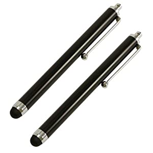 SODIAL- Capacitive Stylus Compatible with Apple iPad 3 (2012)/2/1G, Amazon Kindle Touch/Fire, Acer Iconia, Hp TouchPad, Blackberry Playbook, Samsung Galaxy Tab, Motorola Xoom, Google Nexus 7, Transformer TF101/Transformer Prime TF201 (2 pack)- Black