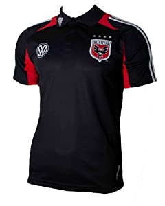 D.C. United adidas MLS Black Polo Shirt by adidas