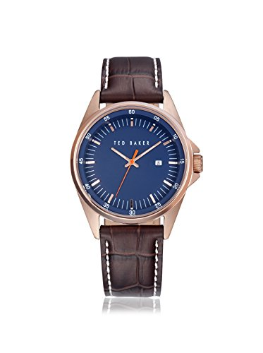 Ted Baker Round Dial Leather - Brown Men's watch #TE1116