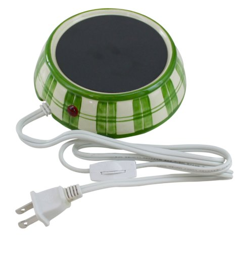 YT Electric 4-Inch Ceramic Candle Warmer - Green Plaid (Electric Candle Warmer And Dish compare prices)