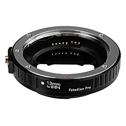 Fotodiox Pro Auto Macro Extension Tube, 13mm Section - for Canon EOS EF/EF-s Lenses for Extreme Close-up with Auto-Exposure and Autofocus