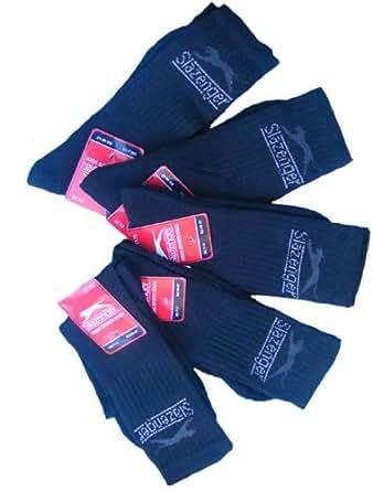 Chaussettes de sport Slazenger pour hommes (lot de 5 paires) (40-47, Noir)