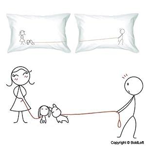 Cute Pillows For Couples : Amazon.com - BOLDLOFT