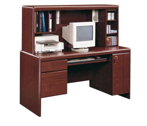 Classic Cherry Computer Desk with Hutch Cornerstone Cherry Collection by Sauder Office Furniture - 1