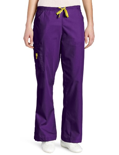 WonderWink Women's Scrubs Romeo 6 Pocket Flare Leg Pant, Grape, X-Large (Scrubs For Women Grape compare prices)