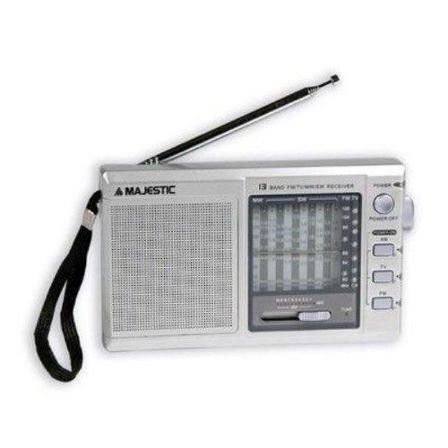 Majestic RT185 Radio Portatile Multibanda AM/FM/SW, Argento