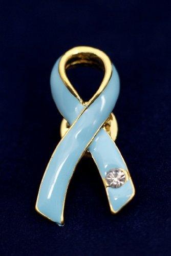 Light Blue Ribbon Pin-Austrian Crystal (36 Pins)
