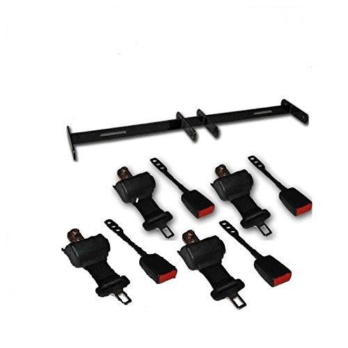 Universal Golf Cart Retractable Seat Belt Kit with 4 Seat Belts- Club Car, E-Z-GO, Yamaha