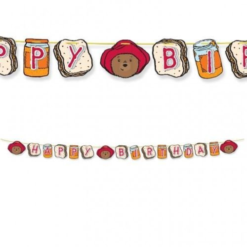 Paddington Bear Party 3D Pop Out Happy Birthday Banner
