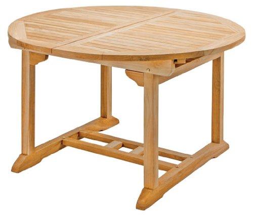 cm Gartentisch Auszugstisch Gartenmöbel TeakTisch oval günstig