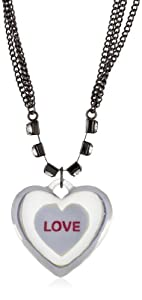 "Harajuku Lovers ""Candy Girls"" Lucite Heart Necklace"