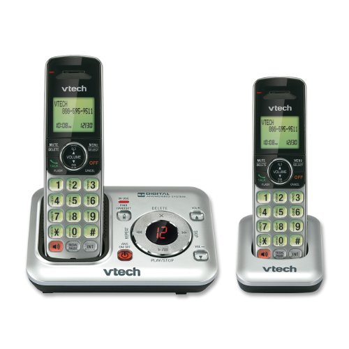 Buy Cheap VTech CS6429-2 DECT 6.0 Cordless Phone, Silver/Black, 2 Handsets