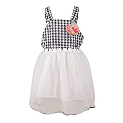 Pikaboo Strappy Gingham Frock - Black