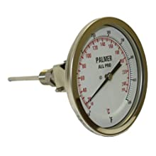 Palmer All Pro Welded Stainless Steel 304 Dual Scale Bimetal Thermometer