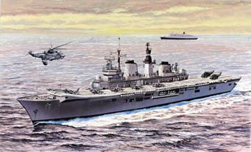 Cyber Hobby 1/700 H.M.S. Invincible Light Aircraft Carrier - Falklands War 30th Anniversary