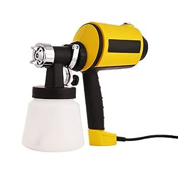 Meditool Advanced Electric Spray Gun Home Paint Sprayer HVLP Sprayer with Three Spray Patterns Three Copper Nozzle Sizes 900ml Detachable Container Volume Regulator 6.5ft Power Line