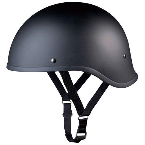 オージーケーカブト(OGK KABUTO) バイクヘルメット ハーフ REVOLVER AN-1 フラットブラック FREE(57-59cm)