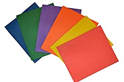 Two Pocket Embossed Paper Folders with Card Holder. Assorted Colors, Pack of 24